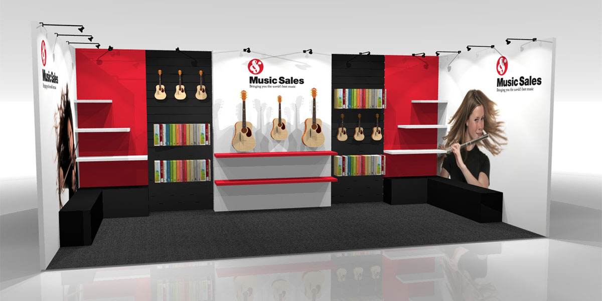 Music Sales Stand Design Concept