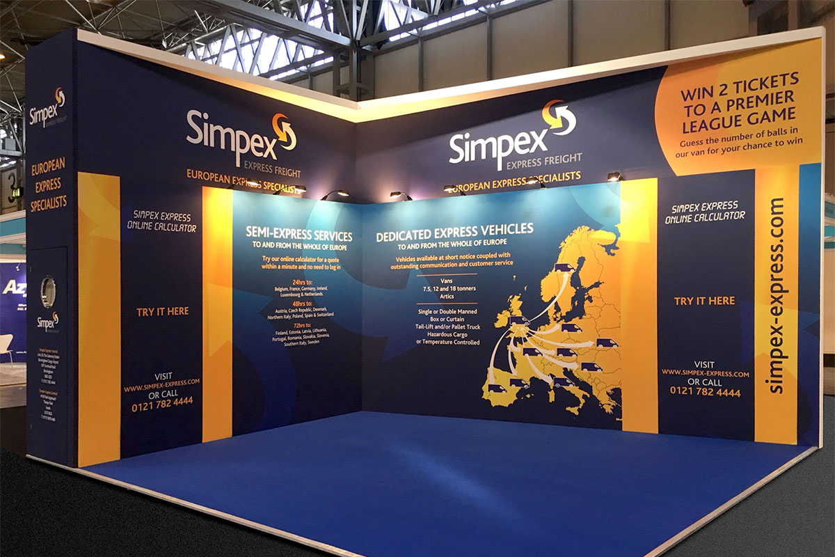 Simpex Express Freight Exhibition Stand Design