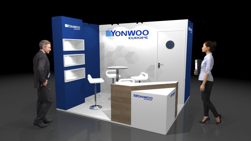 Exhibition Stand Design for Yonwoo – PEM Exhibition Services