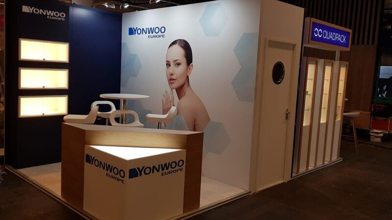 Exhibition Stand Delivery for Yonwoo – PEM Exhibition Services